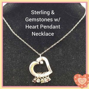 Lenox Sterling Silver gem stone necklace